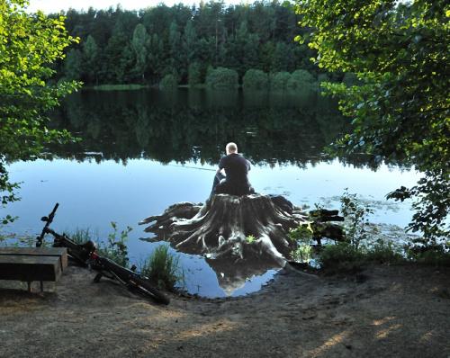 Jezioro Dlugie, przemile hobby dla cierpliwych:) #JezioroDlugie #KrainaTysiacaJezior