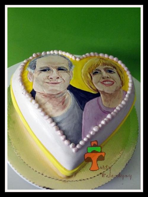 Tort rocznicowy #portret #rocznica #tort