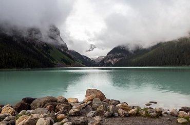 Lake Louise -Kanada Przepiekne szmaragdowe jezioro .