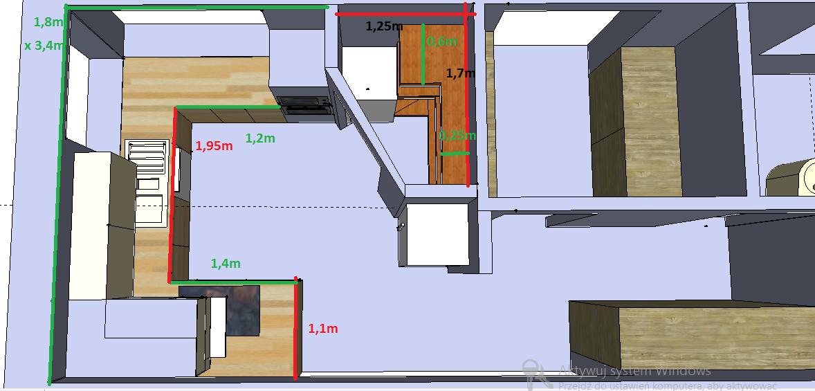 Projekt Kuchni Polwysep I Okno Rogowe Narozne Projektowanie