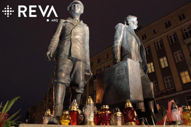 Pomnik Wysiedlonych Gdynia #architektura #iluminacje #kościoły #LED #oprawy #oświetlenie