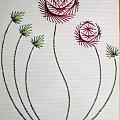 Obrazki z szycia wzięte - na podstawie wzoru ze stitchingcards.com #kwiat #róża #fantagiro7 #HaftMatematyczny #ObrazkiZSzyciaWzięte