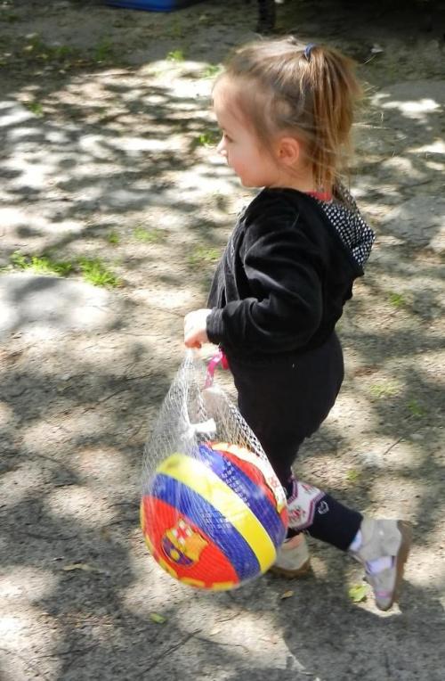 piłka ...i panna Maria (na dodatek) #panienka #piłka
