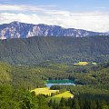 Widok na jeziorko Fusine #Góry