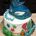 Karnawałowy tort z maską #bal #karnawał #MaskaKarnawałowa #ostatki #tort #TortyArtystyczne #TortyKraków #TortyWalentynki