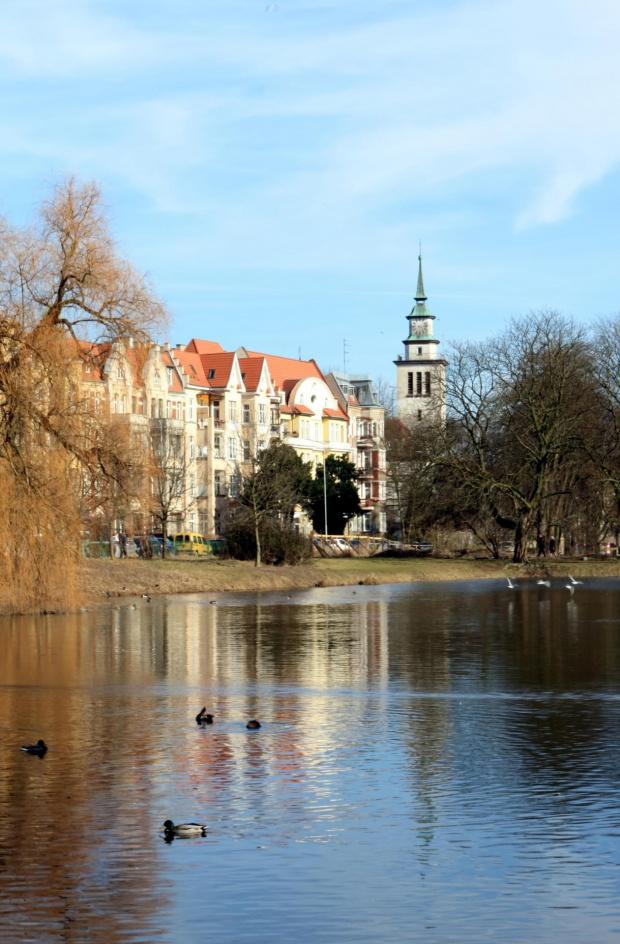 #architektura #budynki #Kasprowicza #krajobraz #park #Szczecin #woda
