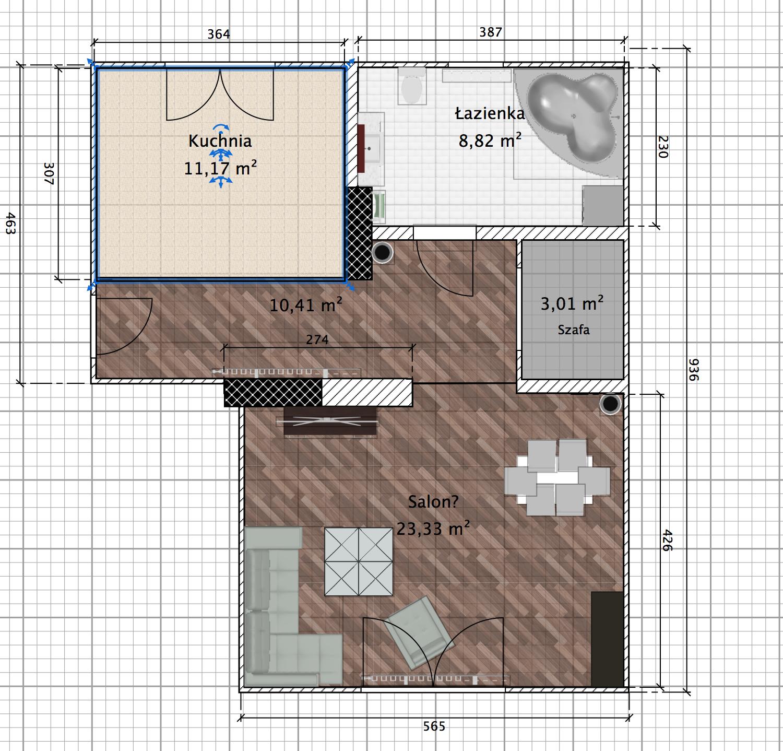 Małe Mieszkanie Wytyczenie Sypialni Projektowanie Wnętrz